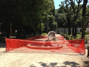 distrutta fontana villa torlonia frascati