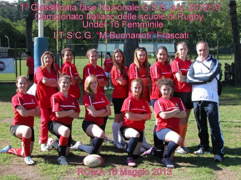 Under 16 rugby istituto Buonarroti