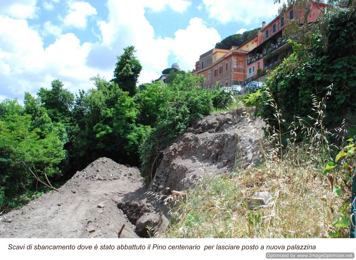 Sbancamento lago Castel Gandolfo