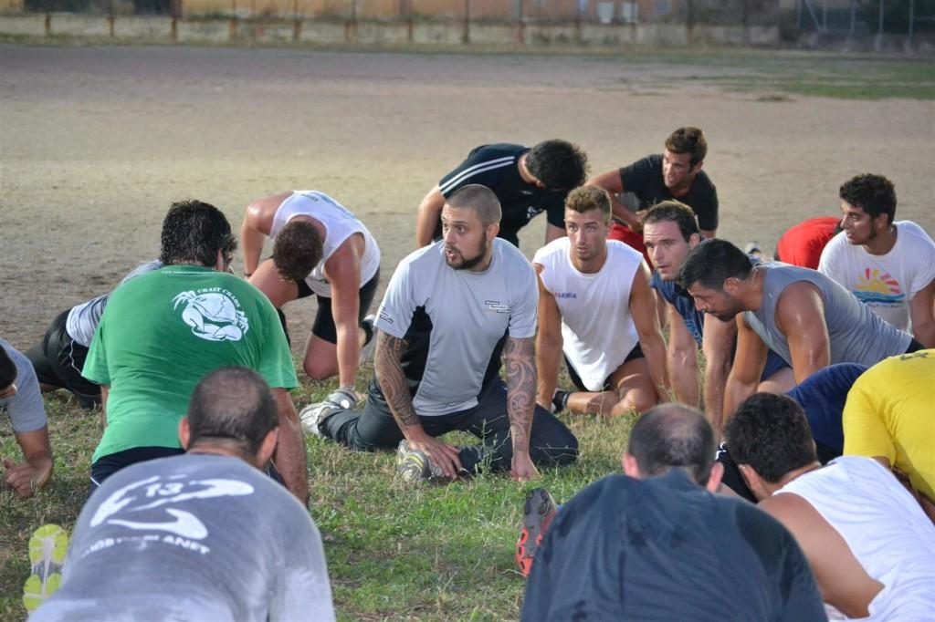 diana con il gruppo durante gli allenamenti