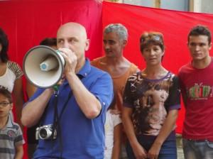 Manifestazione comunità rumena a Marino