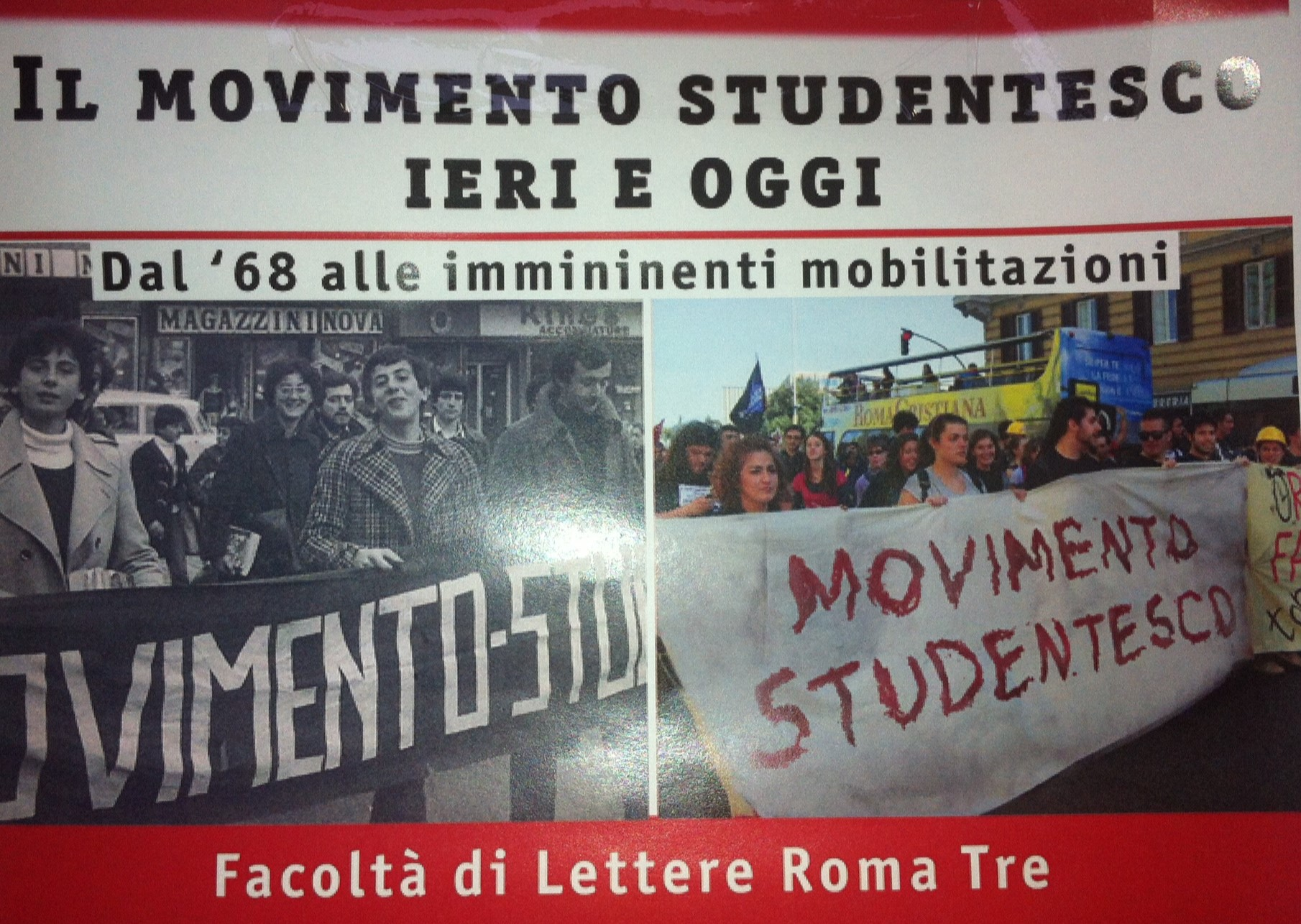 Movimento Studentesco Ieri e Oggi
