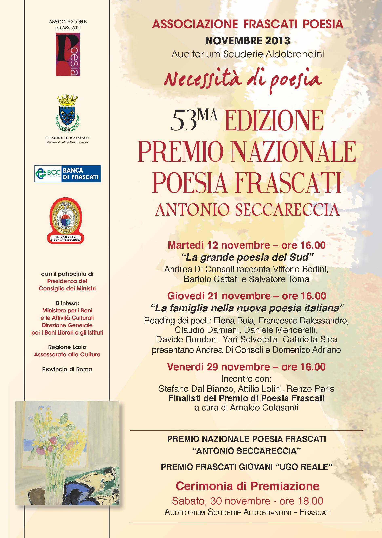 locandina premio nazionale frascati poesia 2013
