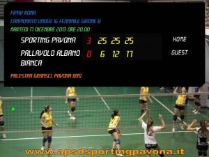 17 dicembre sporting pavona bt Albano under 16 femminile