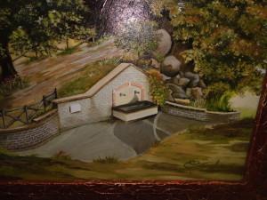 uno dei quadri dell'artista  luana cuticchia raffigurante la fonte ontanese