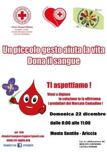donazione sangue 22 dicembre 2013