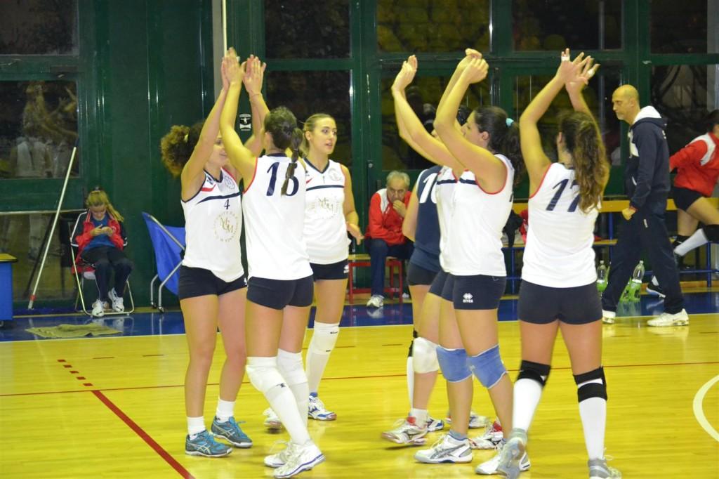 alcune ragazze della b2 del volley club frascati