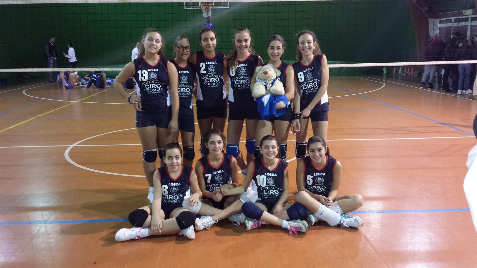 ssd colonna volley under 14 femminile stagione 2013 14
