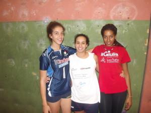 Asia Fanella, Helena Romano e Sharon Cipolloni della Pallavolo Velletri