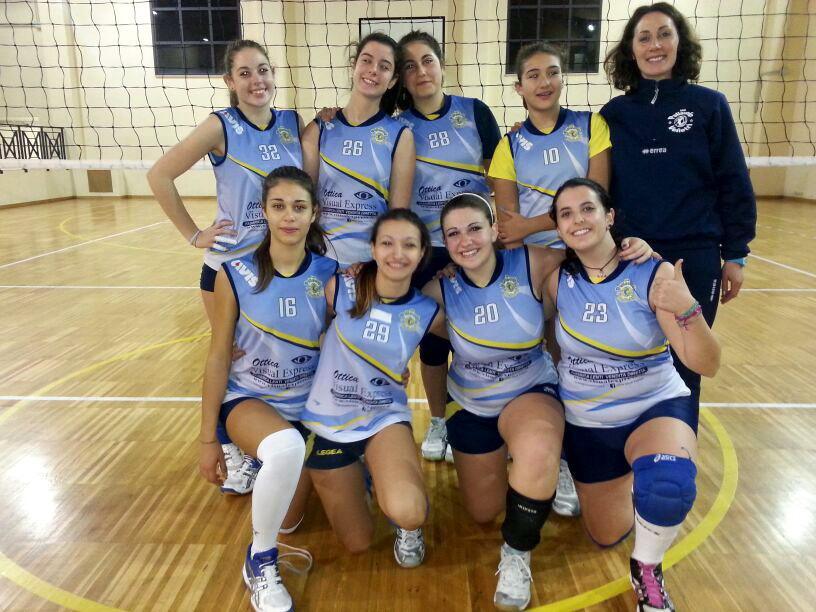 La formazione under 16 femminile della Pallavolo Velletri