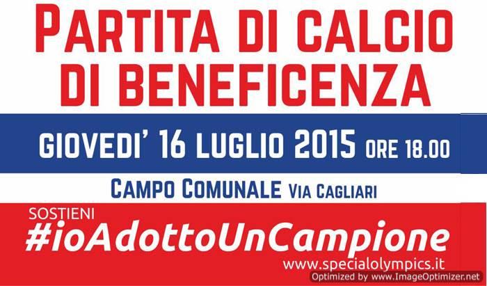 #ioadottouncampione_ciampino_partita_calcio_di_beneficenza