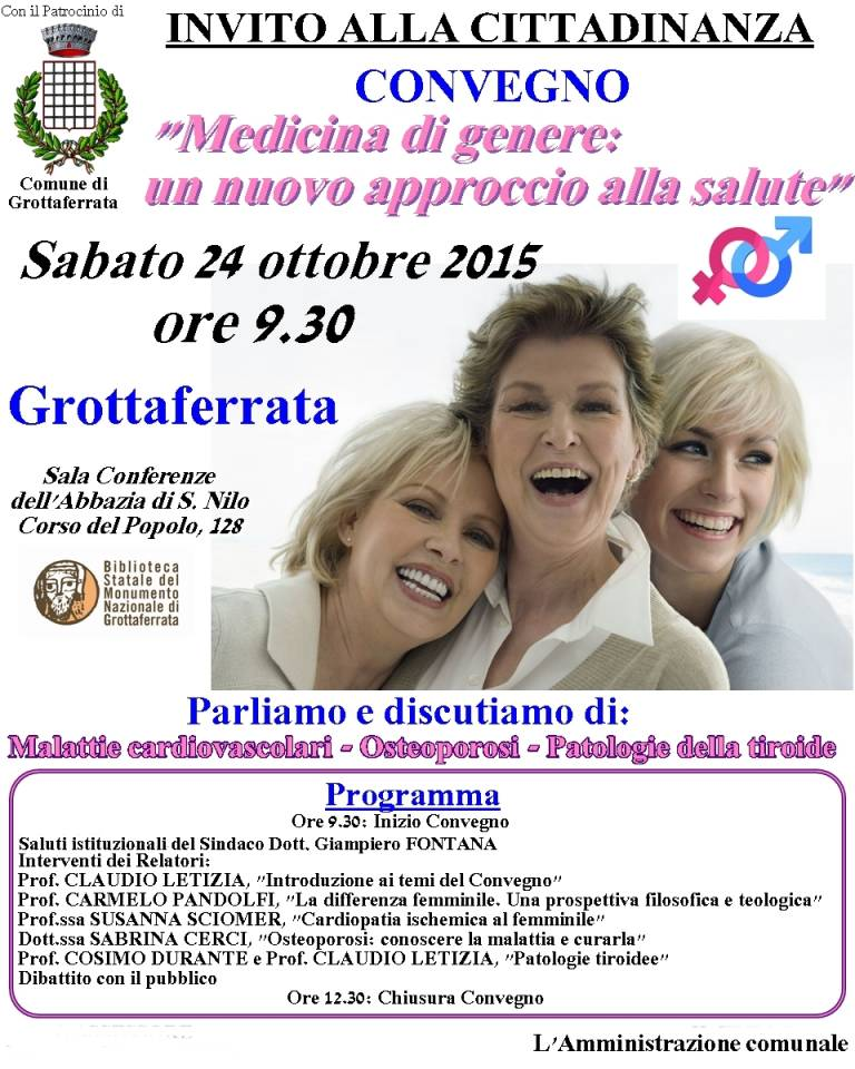 locandina_medicina_di_genere_24 ottobre_2015_grottaferrata
