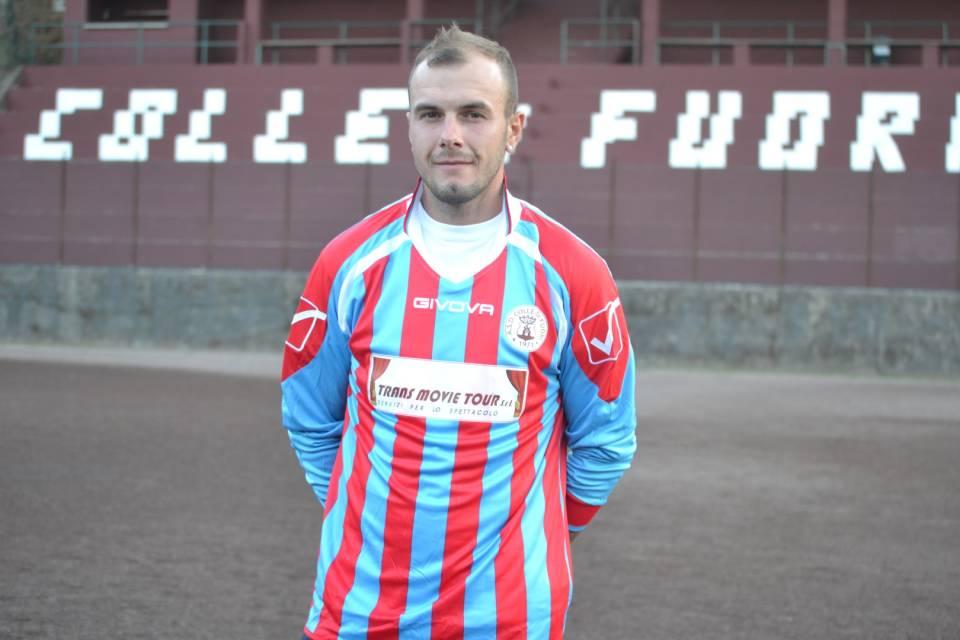 L'attaccante classe 1988 Alex Halauca del Colle di Fuori calcio