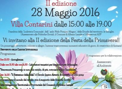 Albano, sabato 28 maggio torna la Festa della Primavera