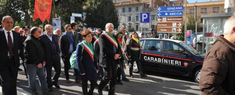 Albano, più di mille in piazza contro le mafie