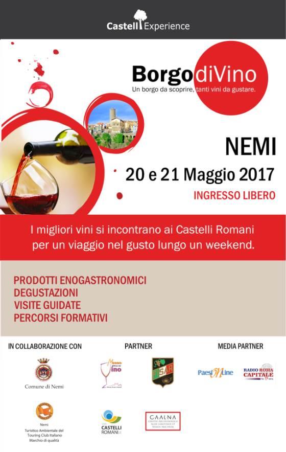 Nemi ospita Borgo DiVino 2017