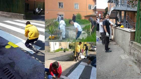 IIS Amari Mercuri, studenti al lavoro per riqualificare la scuola