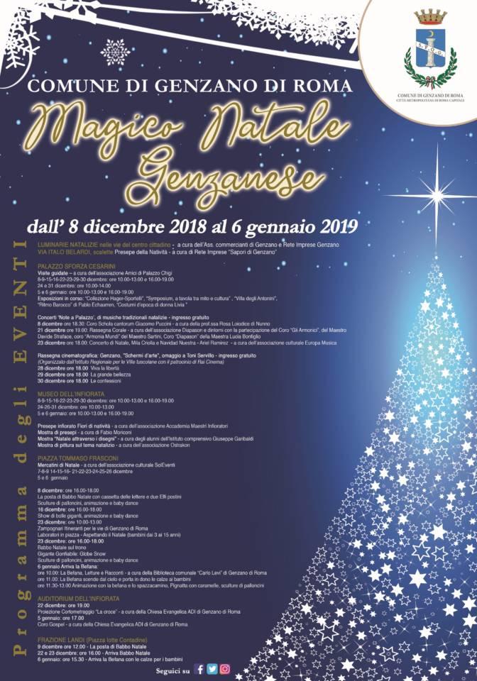 Babbo Natale 8 Dicembre Roma.Dall 8 Dicembre Torna Il Magico Natale Genzanese Meta Magazine