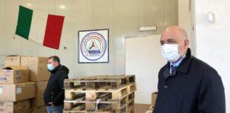 zingaretti_leodori_magazzino_protezione_civile