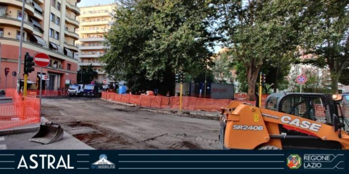 Cantiere in Piazza Bologna